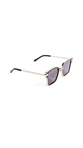 Karen Walker Women's Rebellion Sunglasses, Black/Smoke Mono, One - Sunglasses Black Walker Karen