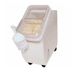 Fixture Displays 12 Gallon Food Bin w/ Sliding Door & Wheels - White 19488 - Gallon Canister 12