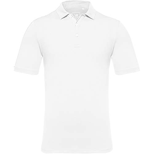 - EAGEGOF Men's Regular Fit Golf Polo Shirt Short Sleeve Stretch Quick Dry Performance Polo(White, 3XL)