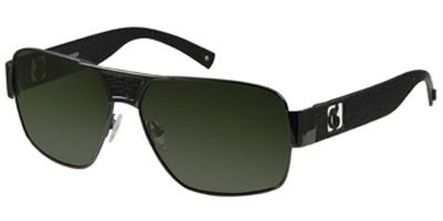 Guess Mens 'GU 6608P' Polarized Designer Sunglasses, Gunmetal / - Guess Girls Glasses