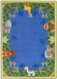 Joy Carpets Kid Essentials Infants & Toddlers Round Jungle Friends Rug, Multicolored, ()