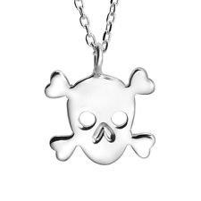 jacob alex #40603 Evil Bone Cross Skull Pirate Pendant Necklace 18