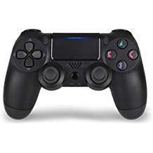PS4 Controller,DualShock 4 Wireless Controller Remote for Sony Playstation 4 with Chargiing Cable,Jet Black,New Model