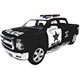 - Kinsmart 2014 Silverado K-9 Black & White Special Police Unit Pickup SUV 1/46 Scale Diecast Truck