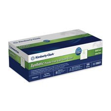 Kimberly-Clark Products - Powder-Free Exam Gloves, Non-Latex, Medium, 100/BX, Clear - Sold as 1 BX - Latex-free examination gloves are completely made from synthetic material and powder-free for sensitive users. Textured fingertips enhance slip-resistance