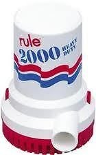 Rule 12 Marine Bilge Pump, 2000 Gallon Per Hour, Non-Automatic, 24 Volt DC