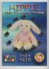 Hippie the Ty-Dye Bunny (Trading Card) 1999 Ty Beanie Babies Series 3 - [Base] - Chase Silver #53