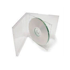 (25) STANDARD Clear Double CD Jewel Case - CD2R10CL (Double Disc Case)