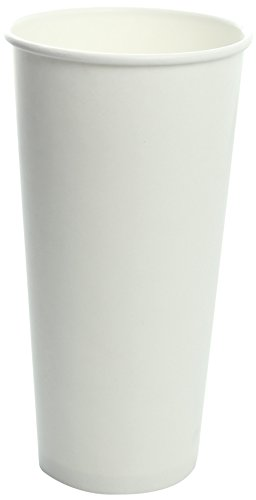 Karat C-KCP22W 22 oz Paper Cold Cup, White, White (Pack of 1000) ()