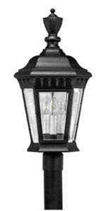 Hinkley 1707BK Camelot Cast Outdoor Lantern Fixture, Black - Clear Beveled and Bound - Bound Traditional Lighting Glass