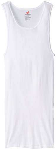 Hanes Men's Tall Man A-Shirt, White, 2X-Large/Tall (Pack of 3) ()