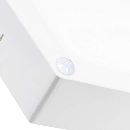 Plafón LED Cuadrado con Detector de Movimiento PIR 18W Blanco Frío 6000K efectoLED: Amazon.es: Iluminación