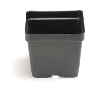 4 1/2 Inch Plastic Flower Pots (Qty. 45), Greenhouse and Nursery (Square Greenhouse Pots)