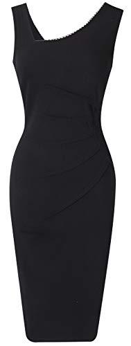 DILANNI Womens V Neck Elegant Slim Style Evening Cocktail Party Dress XS-XXL