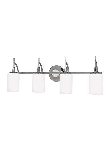 (Sea Gull Lighting 16050-15 Three Light Ceiling Fan Light Kit, White Finish)