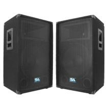Pair of 15 Inch PA DJ Speaker Cabinets