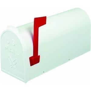 Flambeau T-R4503WT Standard Classic Mailbox, Rural Style, 1, White