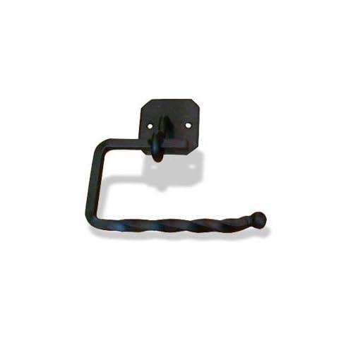 BLACK Toilet Paper Holder Iron DAKOTA Decor Bathware 64027