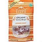 Yummy Earth Organic Ginger Zest Candy Drop, 3.3 Ounce -- 6 per case.