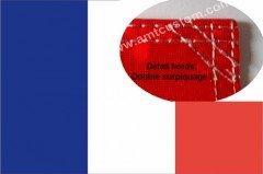 Drapeau Fanion franç ais Coutures renforcé es - Flag Motos Custom - Harley - Trikes AMT CUSTOM 50/FR-FLG