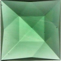 Stained Glass Jewels - 25mm Square Faceted - Sea Green