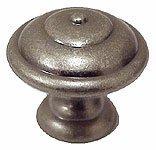 Bosetti Marella 100545 Vintage 1 Inch Diameter Mushroom Cabinet Knob, Old Iron