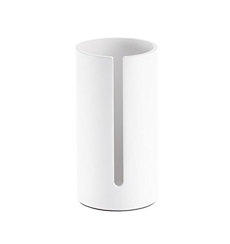 DWBA Stone Standing Toilet Paper Roll Holder for Bath Storage, Canister - White