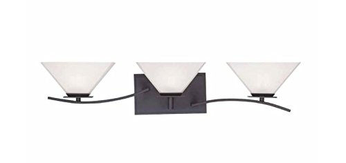 - Home Decorators Collection 3-Light Biscayne Bronze Bath Bar Light with Frosted White Glass
