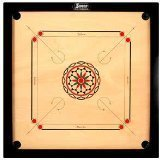 Surco Carrom Board with Coins and Striker, 4mm Full Size by Surco