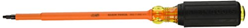 Klein Tools 662-7-INS Insulated Number 2 Square-Recess Screwdriver with 7-Inch Shank,#2 Square Recess