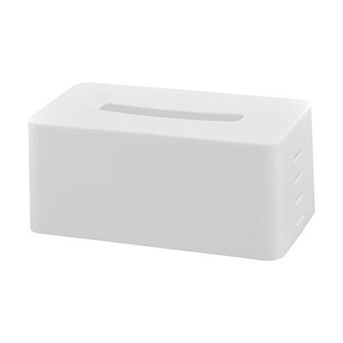 Amazon.com: eDealMax plástico Inicio del rectángulo de la servilleta de Papel Rollo de Papel Ajustable almacenaje del sostenedor de la caja Blanca: Home & ...