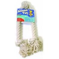 3 Knot Booda Rope (Three Knot Rope Bone Dog Toy in White Size: X-Large)