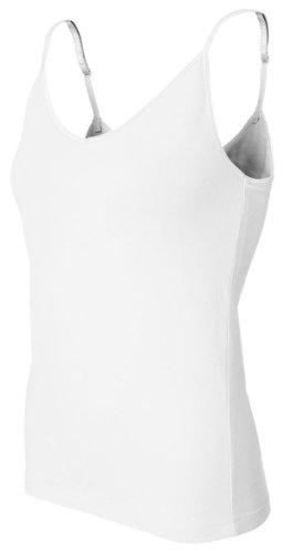 Bella+Canvas Ladies' Cotton/Spandex Shelf-Bra Tank Top - White - L