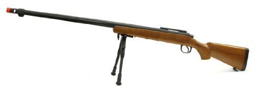 spring mb07a bolt action sniper rifle fps-600 bipod airsoft gun wood(Airsoft Gun) (Wood Sniper Rifle)