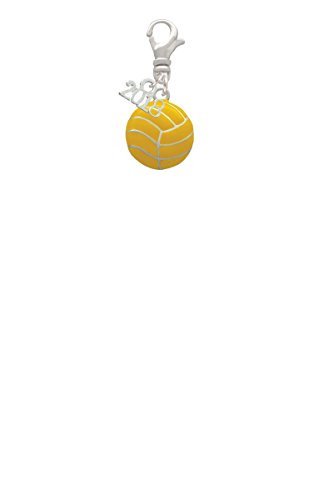 Large Water Polo Ball Mini 2018 Clip On Charm (Water Polo Charm Bracelet)