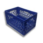 Milk Crate 19x13x11 Rectangular Dairy Crate (Blue) Dcrates