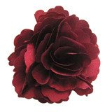 A Girl Company Burgundy Satin Flower Hair Bow/Brooch