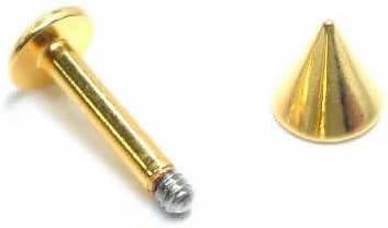 ボディピアス 14G メンズ 人気 ゴールド コーティング 金色 金メッキ ラブレットスタッズ 軟骨ピアス ヘリックス ( コーン ) (内径) 9.5mm/(コーン)5mm バラ売り プレゼント 耳