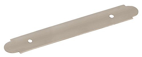 Amerock BP19208G10 Backplates 3 in (76 mm) Center-to-Center Satin Nickel Cabinet Backplate