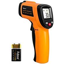 (Infrared Thermometer, Helect Non-Contact Digital Laser Infrared Thermometer Temperature Gun -58°F to 1022°F (-50°C to 550°C) with LCD Display)