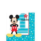 (1st Birthday Mickey Mouse Beverage Napkins 16 count Party Supplies Mickey Fun to be One!)