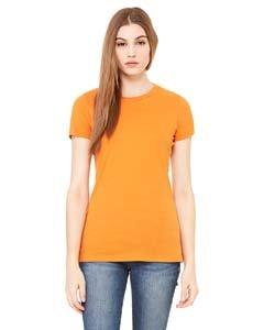 Bella womens The Favorite T-Shirt(6004)-BURNT - Orange Burnt Shirt