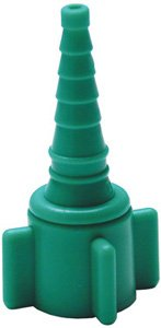 Grafco John Bunn Oxygen Nut & Stem Adapter ''Christmas Tree'' Nylon, Green Case: 50