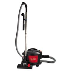 Sanitaire SC3700A Quiet Clean Canister Vacuum, Red/Black, 9.0 Amp, 11″ Cleaning Path.