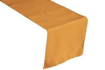 テーブルランナーポリエステル13 x 156インチby Browardリネン 13 X 156 INCH ゴールド  ゴールド B0756DQHDP