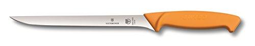 Victorinox Küchenmesser Swibo Fischmesser Normaler Schliff flex-schmal gelb 20 cm Klingenlänge, 5.8449