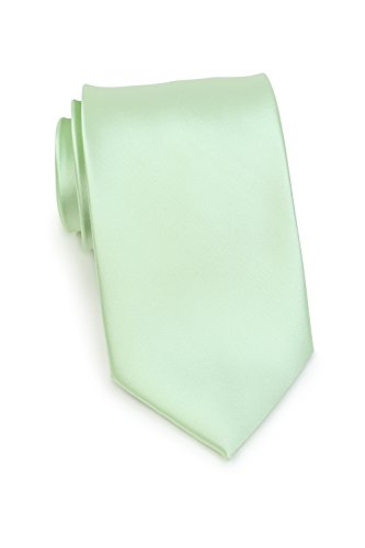 cktie Solid Color Microfiber Satin Tie 3.25 Inches (Winter Mint) ()
