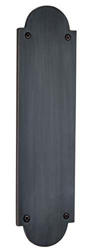 "Knoxx Hardware Traditional Push Plate -3"" x 12"", Oil Rubbed Bronze"