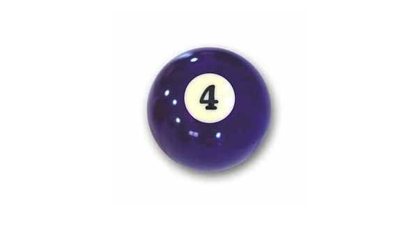 Bola de billar Nr. 4 bola de piscina Favoritos Número 4: Amazon.es ...