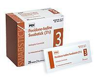 PT# -S41125 PT# # S41125- Prep Surgical Swabstick PVP Iodine PDI Triples 3's 25/Bx by, PDI Professional Disposables (Swabsticks Pvp)